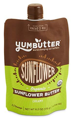 YUMBUTTER Organic Creamy Sunflower Butter, 6.2 OZ