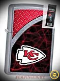 29366 Kansas City Chiefs NFL Street Chrome Finish Lighter with Flint Pack - Premium Lighter Fluid (Comes Unfilled) - Made in USA!