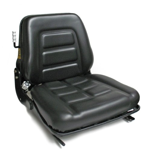 Intella 01012000C-E Vinyl Forklift Suspension Seat with Installation Rails ()