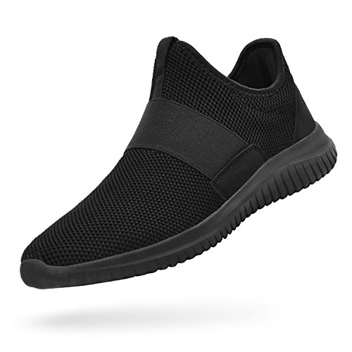Troadlop Womens Sneakers Lightweight Breathable Mesh Slip On Casual Tennis Shoes Athletic Walking Running Sneakers Black Size 10.5 B(M) US