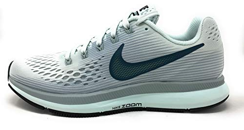 Nike Womens Air Zoom Pegasus 34 Low Top Lace Up Running Sneaker (Barely Grey/Deep Jungle, 5 M US) by Nike (Image #1)