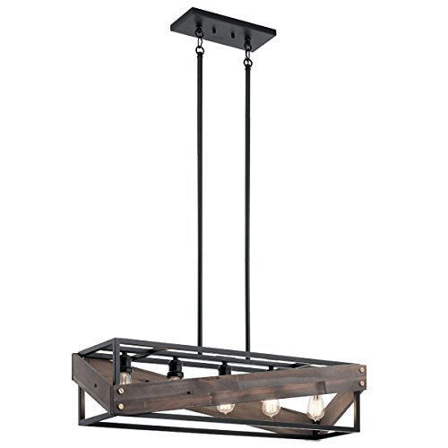 Chandeliers 5 Light with Black Finish Steel Drum Material Medium 10 inch 375 Watts