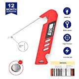 Digital Meat Thermometer, Instant Read Meat Thermometer for Grilling with Bottle Opener, Super