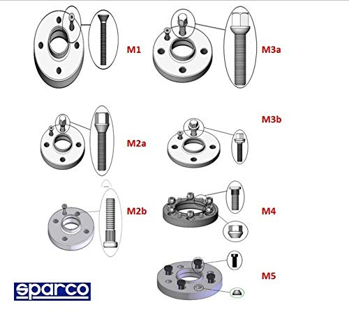 Sparco 051STB229 Separadores 5x112 66,45 B M14X1,50 12MM Type M2A