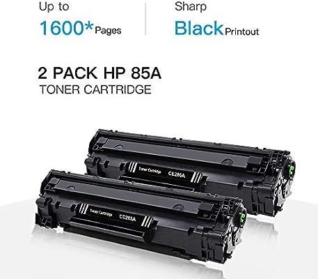 GPC Image Cartuchos de Tóner Compatible para HP CE285A 85A (2 Negro) para HP Laserjet Pro P1100 P1102 P1102W P1109W M1132 M1132MFP M1212NF M1217NFW ...