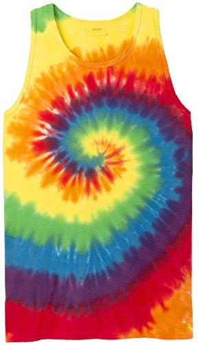 Joe's USA Koloa Colorful Tie-Dye Tank Top-Rainbow-4XL ()