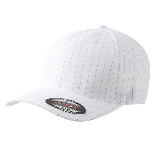- Original Flexfit Pinstripe Baseball Blank Cap HAT Fitted Flex Fit 6195P