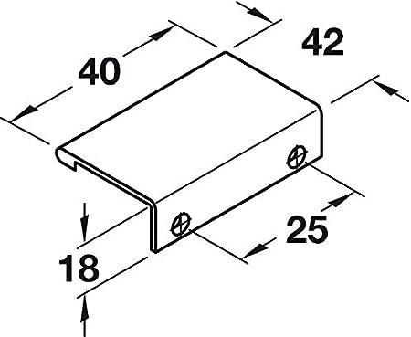 Schrank-Griff L/änge 230 mm Griffleiste Alu mit Schraube Aluminium schwarz eloxiert T/ürgriff f/ür r/ückseitige Verschraubung PALMA 1 St/ück Gedotec M/öbelgriff K/üche Kantengriff Schubladengriff