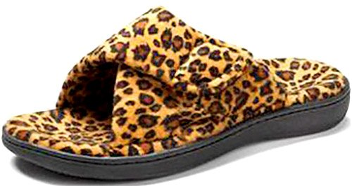 Vionic Women's Relax Slipper, Tan Leopard, 7 B(M) US
