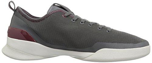 Lacoste Mäns Lt Dubbla Sneakers Dkgry / Mörk Textil