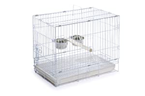 Prevue Hendryx Travel Bird Cage 1305 White, 20-Inch by 12-1/2-Inch by 15-1/2-Inch