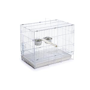 Prevue Hendryx Travel Bird Cage 1305 White, 20-Inch by 12-1/2-Inch by 15-1/2-Inch 66