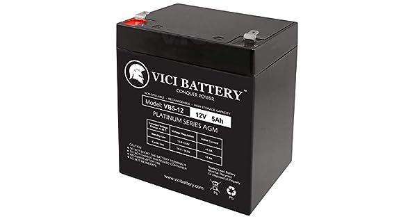 Amazon.com: Batería VICI de 12 V 5 Ah para scooter de ...