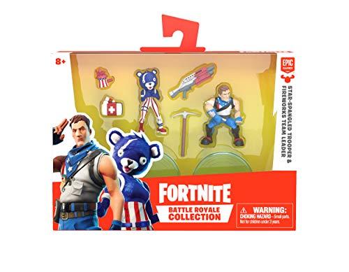 - Fortnite Battle Royale Collection - Star-Spangled Trooper & Fireworks Team Leader - 2 Pack of Action Figures