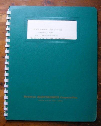 Instruction Book Model 91CA RF Voltmeter.