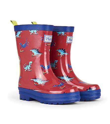 - Hatley Boys' Little Scooting Dinos Rain Boots, 12 US Child