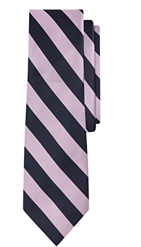 Jacob Alexander Stripe Woven Boys Regular College Striped Tie - Purple Pink Navy (Boys Stripe Navy Tie)