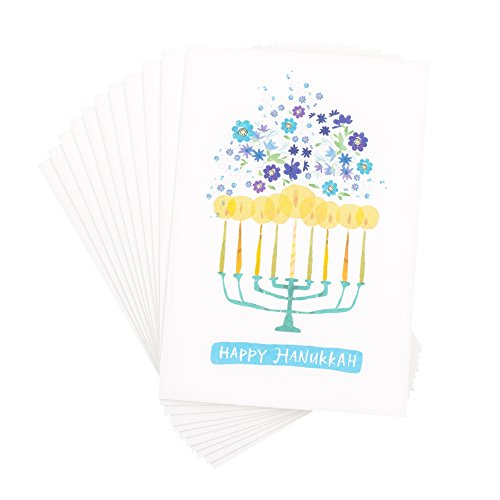 Hallmark UNICEF Hanukkah Boxed Cards (Menorah Candles, 12 Hanukkah Greeting Cards and 13 Envelopes) Photo #4