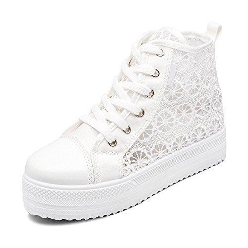 Tennis Soixante Chaussures Femmes Pour Dentelle Sport Blanc2 De Basket Sneaker Mode L'eté zz4xw1