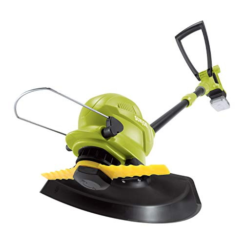 Sun Joe 24V-SB10-LTE 24V iON+ 10-in. 2.0Ah Cordless SharperBlade Stringless Lawn Trimmer, Green