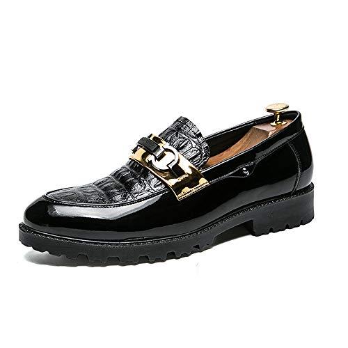 On Jiuyue Slip Black Loafer EU oxford Gold 2018 punta antiscivolo rotonda uomo shoes Nero Dimensione all'usura 40 resistente da Comoda e Scarpe Color Uomo Scarpe Pelle 6Srw6ZOq