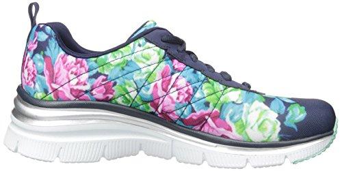 Skechers (SKEES) - Fashion Fit, Scarpa Tecnica da donna, blu (nvmt), 40