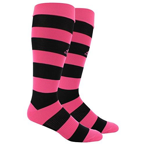 adidas Metro Hoop Soccer Socks, Solar Pink/Black, Medium