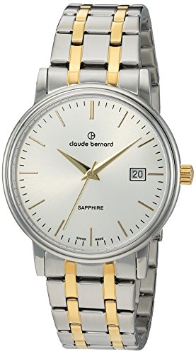 Claude Bernard Swiss Quartz and Stainless Steel Dress Watch, Color:Two Tone (Model: 53007 357JM AID)