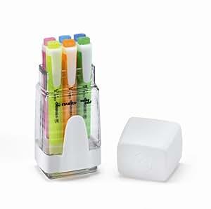 Stabilo - Rotuladores fluorescentes con soporte (6 colores)