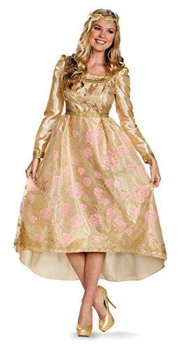 Disguise Women's Disney Maleficent Aurora Coronation Gown Deluxe Costume, Multi, (Disney Maleficent Adult Costumes)