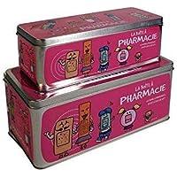 CMP Paris Lot de 2 Boîtes à Pharmacie 2 Tailles 4 Couleurs aléatoire (Rose, Bleu, Violet Vert)