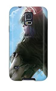 Galaxy S5 Case Cover - Slim Fit Tpu Protector Shock Absorbent Case (bleach)