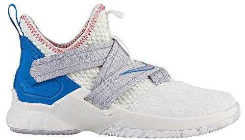 Nike Lebron Soldier XII (GS) Kids Basketball-Shoes (6 Big Kid, Summit White/Provence Purple-Beach)