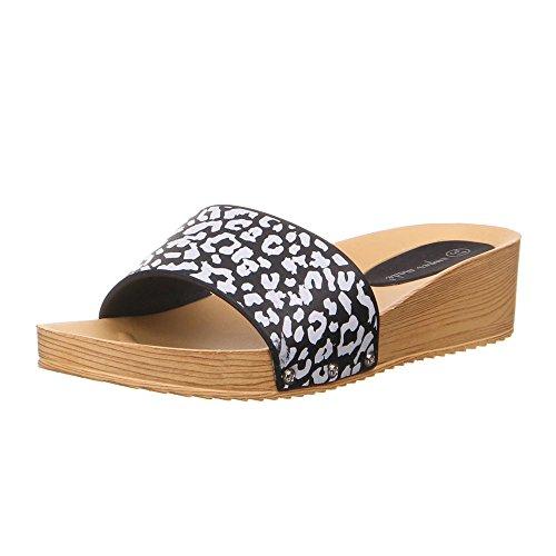 Ital-Design - Sandalias de vestir de Caucho para mujer Negro - negro