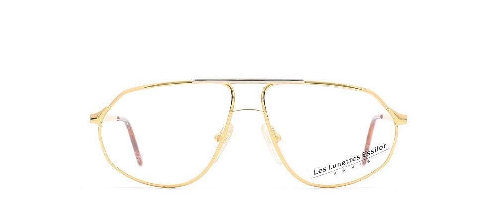 377b0ee7720 Amazon.com  Essilor 201 12 Gold Authentic Men Vintage Eyeglasses Frame   Clothing