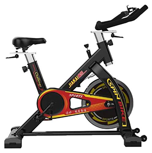 Lcyy-Bike Indoor Cycling Bicycle Trainers Infinite Resistance 13 Kg Flywheel Cardio Workout with Monitor & Kettle Holder Belt Drive Adjustable Handlebars & Seat Height for Men/Women Black