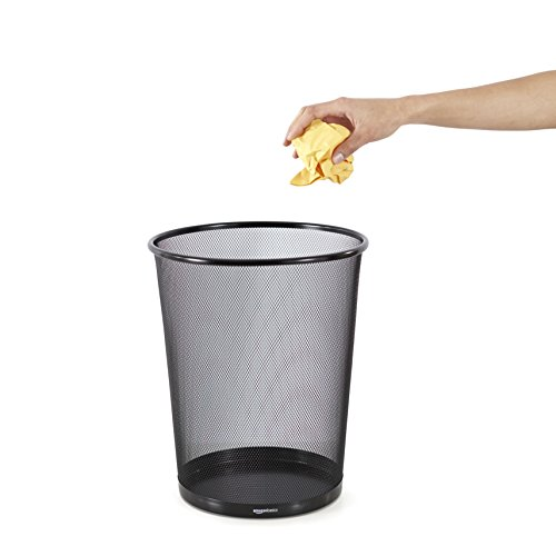 Large Product Image of AmazonBasics Mesh Wastebasket