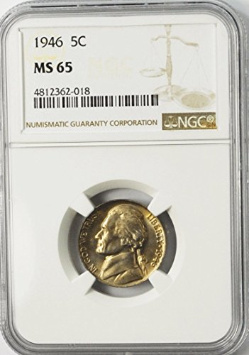 1946 P Jefferson Nickel Five Cents 5c MS65 NGC