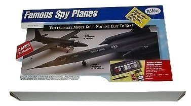 TESTORS: Famous Spy Planes Two Complete Model Kits in One Box (Number 4055) - U-2 & SR71 Both 1/48 Scale
