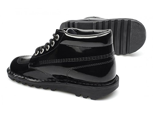 Kickers KICK HI Youth Patent Leather Boots Black 36