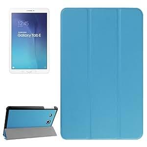 Karst Texture Horizontal Flip Leather funda case cover + Lápiz GRATIS con 3-Folding Holder para Samsung Galaxy Tab E 9.6(Blue)