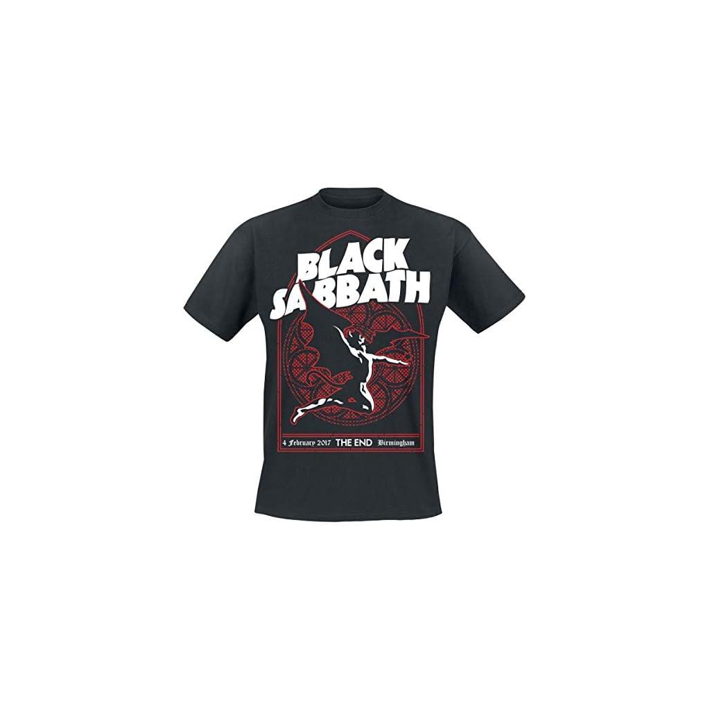 Black Sabbath The End Church Window Camiseta Negro