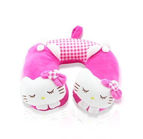 Finex Premium Hello Kitty Pink U-Shape Travel Home Car Seat Neck Pillow Head Rest Cushion Cute Soft Comfy -
