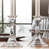 Fifth Avenue Crystal Newport Candle Holder, 5.75-Inch, Set of 2