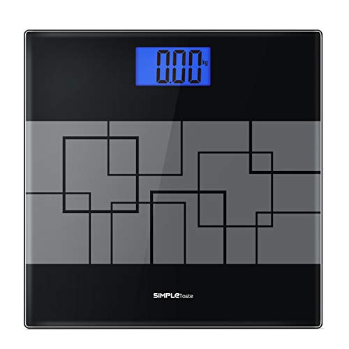 Precision Digital Body Weight Scale Bathroom Scale with Step-on Technology and Lighted Display, 400lb /180kg (Grey)