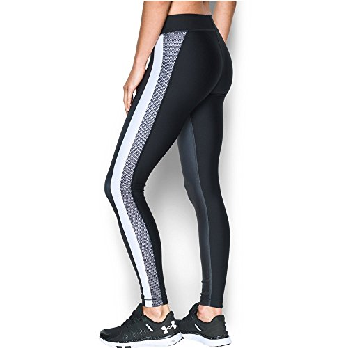 Under Armour Women's HeatGear Armour Engineered Legging, Black/Stealth Gray, Small