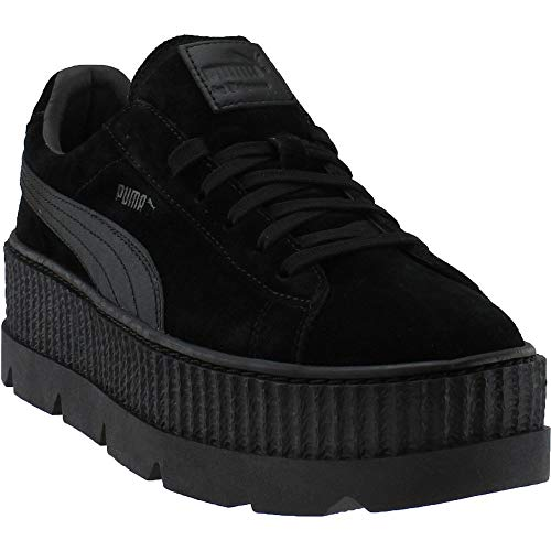 Fenty by Rihanna Cleated Creeper Suede Sneakers, Puma Black, 12 D(M) US ()
