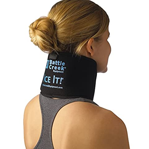 """Cold & Hot Therapy System Ice Pack Wrap - Ice It!® MaxCOMFORT™ (Neck/Jaw/Sinus Design; 4 ½"""" x 10"""") – - Earth Moon System"""