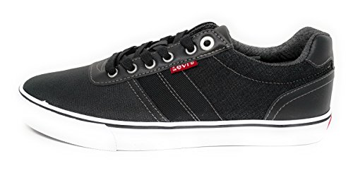Levis Mens Miles Denim Sneakers Svart