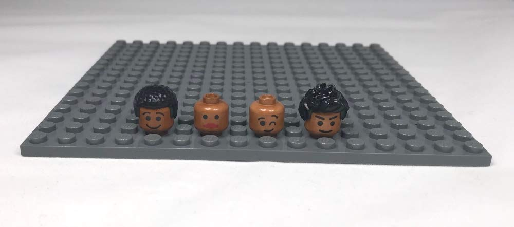 African American Black Brown Diverse Lego Minifigures Real Life Bricks Juice of The Berry Kit Custom Lego Minifigure Conversion Kit